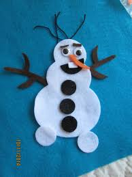 felt olaf inspired kit diy frozen snowman crafts party