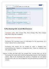 sap t code description table sap mm essential master data