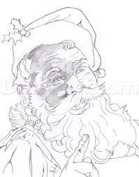realistic santa claus drawing
