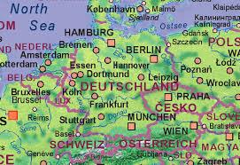 map of deutschland germany of germany
