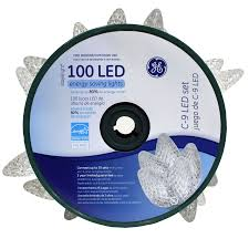 energy star led c9 lights shop ge 100 count led c9 white christmas string lights energy star