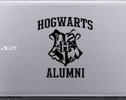 hogwarts alumni bumper sticker hogwarts stickers etsy