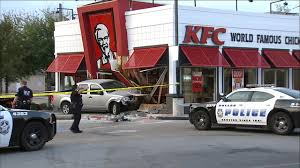 truck crashes into dallas kfc story kdfw