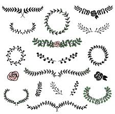 simple laurels frames ornament vector welovesolo