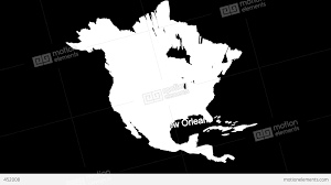 Usa Map Black And White by 3d Usa Map With State Flags Zooming Into New Orleans Seo