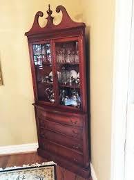how to arrange a corner china cabinet mahogany antique corner china cabinet ebay
