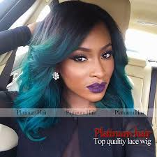 black women with blue and green hairstyles black women colourful