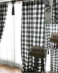 Black And White Checkered Curtains Black Plaid Curtains Best Curtains 2017 For Black And White