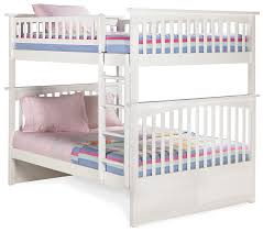 Columbia Bunk Bed Dreamfurniture Columbia Bunk Bed In White Finish