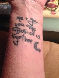 arm tattoo quotes mom u0026 daughter tattoo quote taken from monsters inc my uploads