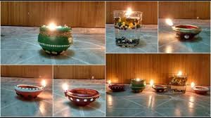 diwali decoration ideas easy diya decoration at home youtube