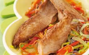 comment cuisiner les aiguillettes de canard recette aiguillettes de canard rôties sur fondue de légumes 750g