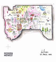 Map Of The Midwest Survey My City Mapping The Midwest Modern Midwest