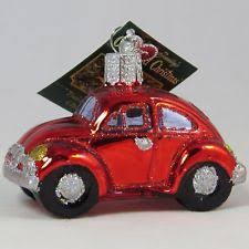 c1963 glass volkswagen beetle car ornament kurt adler