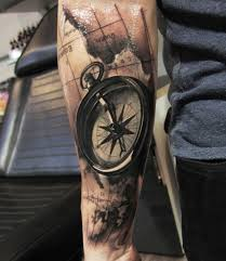 tattoo compass realistic 100 awesome compass tattoo designs map tattoos compass tattoo and