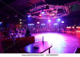 Colorful Interior Colorful Interior Bright Beautiful Night Club Stock Photo