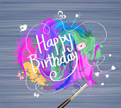 Birthday Card Ai Birthday Card Design With Watercolor Illustration Free Vector In