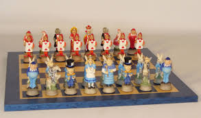 Wooden Chess Set by Chess Sets From The Chess Piece Chess Set Store Alice In