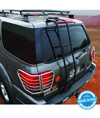 roof rack for toyota sequoia gobi toyota sequoia 01 07 rear ladder driver side