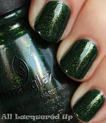 china glaze let it snow 2011 green gold swatches all