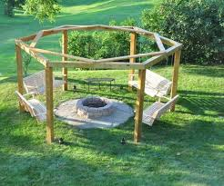 Firepit Swing Best Porch Swing Pit 12 Steps With Pictures Octagon Pit