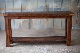 Dark Cherry Sofa Table by Sofa Tables Reclaimed Wood Farm Table Woodworking Athens