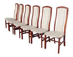 danish denmark skovby rosewood dining chairs 6 chairish