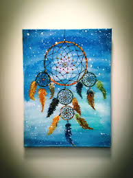 artfido buy art online dream catcher acrylic paint on canvas