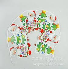 Christmas Decoration Supplies Wholesale 2017 large color cartoon santa pennant flag hanging christmas