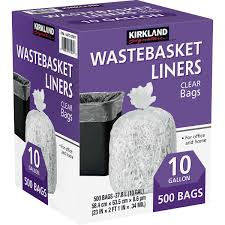Small Wastebasket by Kirkland Signature 10 Gallon Wastebasket Liner 500 Count