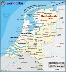 netherlands map netherlands large color map