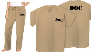 Convict Halloween Costumes Beige Scrubs Prison Inmate Costume Tan Jail Suit Jail Ebay