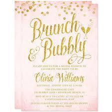 bridal shower brunch invitation printed bridal shower invitations blush pink and gold brunch