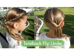 hair style for a nine ye twistback flip under cute girls hairstyles youtube