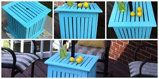 Patio Umbrella Side Table by Diy Patio Umbrella Stand Side Table Mom In Music City