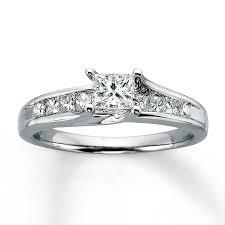 princess cut white gold engagement ring princess cut engagement rings princess cut rings jared