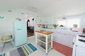 interactive parquet flooring tile kitchen using black thread