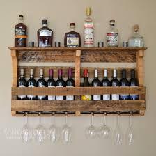 beautiful rustic finish on reclaimed pallet wood wine rack