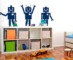 Wall Decals For Kids Rooms Robot Wall Decals For Kids Room Inspiration Home Designs