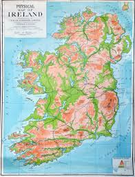 Europe Map Physical by Large Detailed Physical Map Of Ireland Ireland Europe