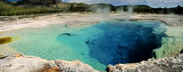panorama of sapphire pool at yellowstone national park flickr