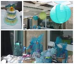 baby shower table decorations for a boy baby shower table