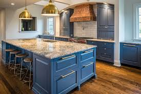 blue kitchen cabinets brown granite blue by don justice cabinet makers farmhouse