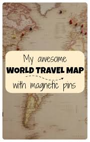 My Travel Map My Awesome World Travel Map With Pins Points With A Crew