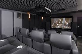 Home Theater Sofa by Interior Heavenly Home Theater Design And Decoration Using Light