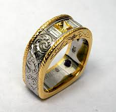 western engraved wedding rings wedding party decoration