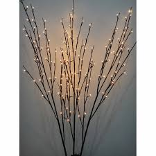 pre lit branches 1 22 m 48 in lighted willow branches set of 3