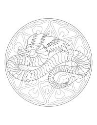 to print mandala dragon 4 mandalas with animals 100 mandalas