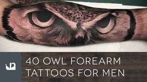 tattoos for guys forearms 40 owl forearm tattoos for men youtube