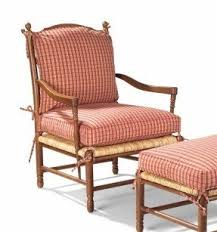 French Country Chair Cushions - upholstered arm chair country french ladder back chair rush seat